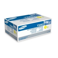 Samsung CLT Y5082 Standard Capacity Yellow Laser Toner Cartridge, 2K Page Yield