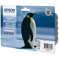 Epson T5597 6 Pack (B/C/M/Y/LC/LM) Ink Cartridges - C13T559740
