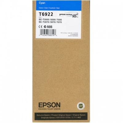 Epson T6922 UltraChrome XD Cyan Ink Cartridge - 110ml
