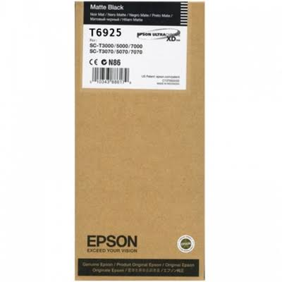 Epson T6925 UltraChrome XD Matte Black Ink Cartridge - 110ml