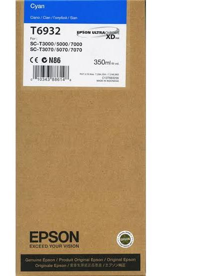 Epson T6932 UltraChrome XD Cyan Ink Cartridge - 350ml