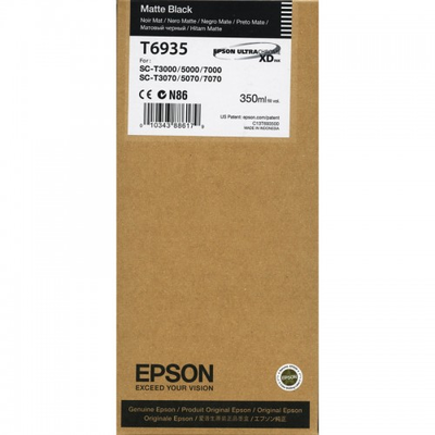 Epson T6935 UltraChrome XD Matte Black Ink Cartridge - 350ml
