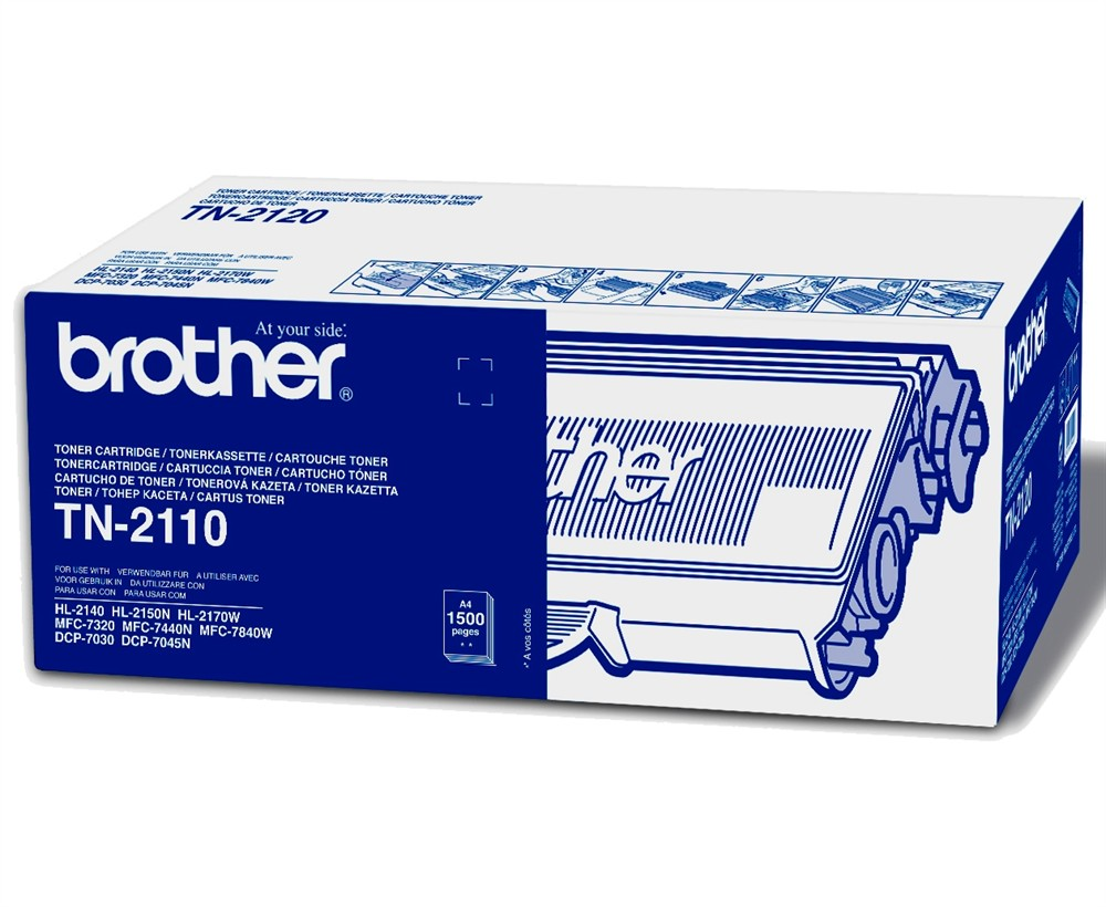 Brother Standard Capacity Laser Toner Cartridge TN-2110