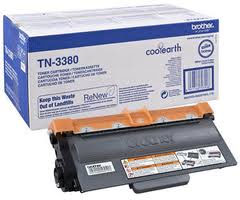 Brother TN3380 High Capacity Black Laser Cartridge - TN-3380, 8K Page Yield