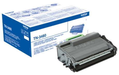 Brother TN3480 High Capacity Black Laser Cartridge - TN 3480, 8K Page Yield