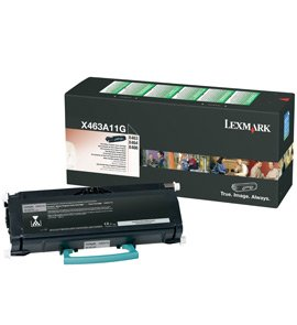 Lexmark 0X463A11G Return Program Toner Cartridge, 3.5K Yield
