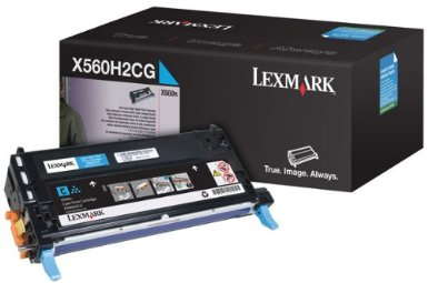 Lexmark High Capacity Cyan Toner Cartridge, 10K Yield
