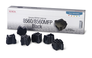 Xerox 6 Colorstix Solid Black Ink Wax Sticks, 6.8K Yield