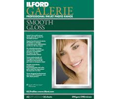 2001777: Ilford Galerie Smooth Gloss Professional Photo Paper, 290gsm, 5x7
