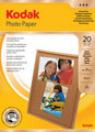 3937182: Kodak Genuine Glossy Photo Paper, A4 - 165gsm, 20 Sheets