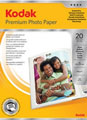 3937729: Kodak Genuine Premium Glossy Photo Paper, A4 - 250gsm, 20 Sheets