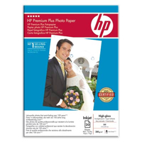 C6832A: HP Premium Plus Photo Paper, High-Gloss, A4 Size, 280g/m2, 20 Sheets