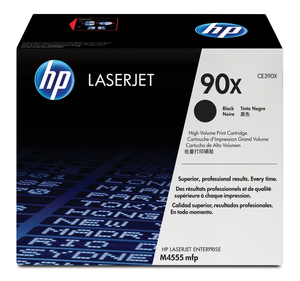 HP LaserJet 4 CE390XD HP 90X Twin Pack High Capacity Black Toner Cartridges - CE390XD