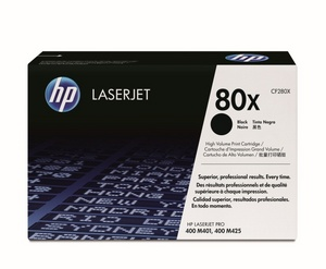 HP LaserJet 4 CF280X HP High Capacity 80X Laser Toner Cartridge, 6.8K Page Yield