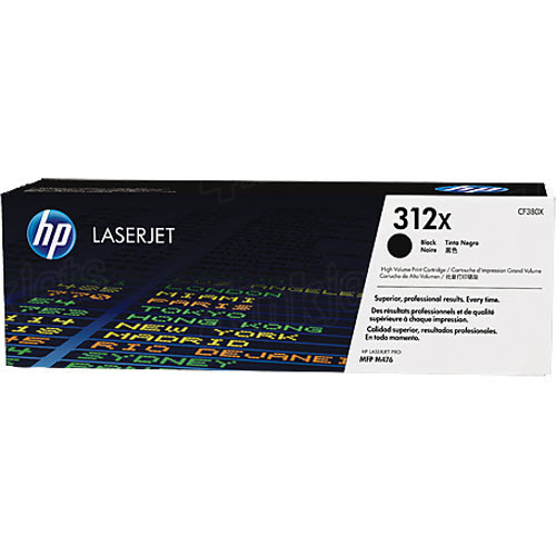 HP LaserJet 4 CF380X HP 312X High Capacity Black Toner Cartridge, 4.4K Page Yield