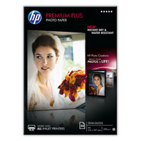 CR673A: HP Premium Plus Semi-Gloss Photo Paper, A4, 300gms, 20 Sheets