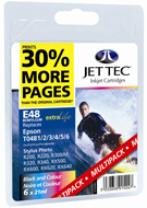 Epson Photo R300 E48MP Jet Tec (Made in the UK) Multi Pack Black, Cyan, Magenta, Yellow, Light Cyan, Light Magenta Ink Cartridges for T048740