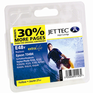 Epson Photo R300 E48Y Jet Tec ( Made in the UK) E48Y Yellow Ink Cartridge for T048440, 13ml