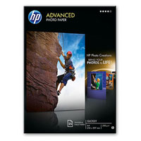 Q8696A: HP Advanced Glossy Photo Paper, 5x7, 130x180mm, 250gms, 25 Sheets