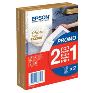 S042171: Epson 4x6 Photo Paper, 70 Sheets, Buy One Get One Free