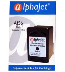 HP OfficeJet 4200 RH56 Alphajet Replacement Black Ink Cartridge (Alternative to HP No 56, C6656A)