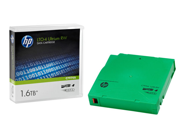 C7974AG: HP LTO4 1.6TB Eco Case - 5 Pack