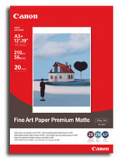 FA-PM1A3Plus: Canon Genuine FA-PM1 A3 Plus Fine Art Paper Premium Matte - 210gsm
