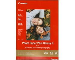 PP-201A4: Canon Genuine Photo Paper Plus Glossy II A4 - 260gsm - 20 Sheets