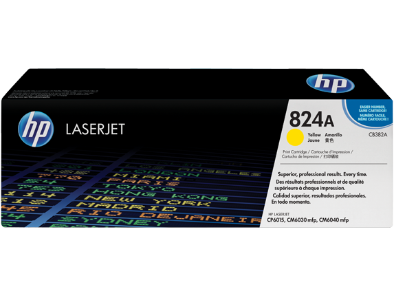 HP LaserJet 4 CB382A HP CB 382A Yellow (824A) Toner Cartridge - CB382A