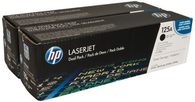 HP LaserJet 4 CB540AD HP 125A Twin Pack Black Toner Cartridges - CB540AD