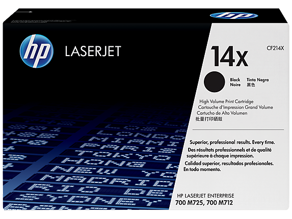HP LaserJet 4 CF214X HP 14X High Capacity Black LaserJet Toner Cartridge - CF214X, 17.5K Page Yield