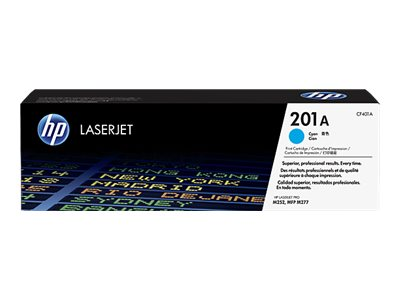 HP LaserJet 4 CF401A HP 201A Cyan Toner Cartridge, 1.4K Page Yield