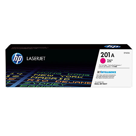 HP LaserJet 4 CF403A HP 201A Magenta Toner Cartridge, 1.4K Page Yield