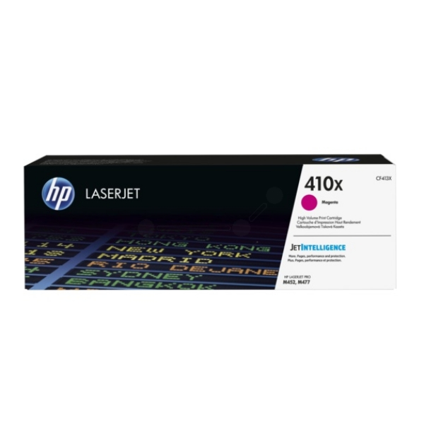 HP LaserJet 4 CF413X High Capacity Magenta HP 410X Toner Cartridge, 2.3K Page Yield