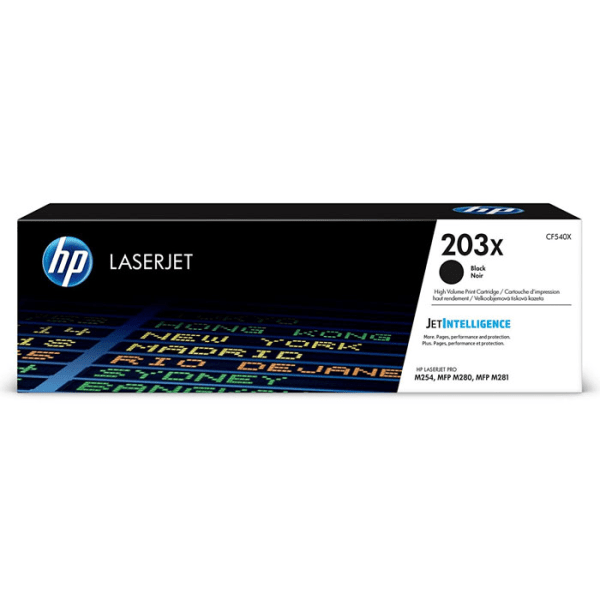 HP LaserJet 4 CF540X HP CF540X High Capacity Black 203X Toner Cartridge - CF540X, 3.2K Page Yield