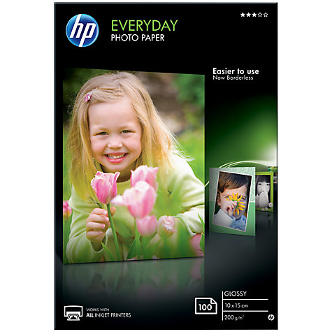 CR757A: HP Everyday Photo Paper, 4x6, 200gms, 100 Sheets
