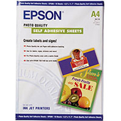 S041106: Epson S041106 Photo Quality Self Adhesive 10 Sheets, A4 Size