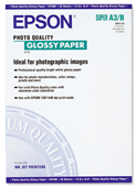 S041133: Epson S041133 Photo Quality Glossy Paper, A3+ Size, 13