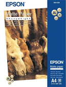 S041256: Epson S041256 Genuine Heavy Weight Matte Paper A4, 50 Sheets