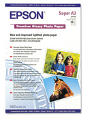 S041316: Epson S041316 Genuine Premium Glossy Photo Paper A3+, 20 Sheets