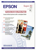 S041328: Epson S041328 Genuine Premium Semigloss Photo Paper A3+, 20 Sheets