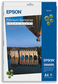 S041332: Epson S041332 Genuine Premium Semigloss Photo Paper A4, 20 Sheets