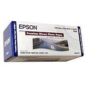 S041377: Epson S041377 Genuine Premium Glossy Photo Paper Roll, 210mm x 10m