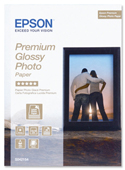 S042154: Epson 5x7 Genuine Glossy Photo Paper, 255gms, 30 Sheets