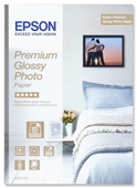 S042155: Epson Genuine Premium Glossy Photo Paper, A4 Size