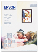 S042178: Epson Genuine Glossy Photo Paper, A4, 20 Sheets