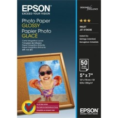 S042545: Epson Genuine Glossy Photo Paper, 5 x 7 Size, 50 Sheets