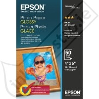 S042547: Epson Genuine Glossy Photo Paper, 6x4 Size, 200 gms