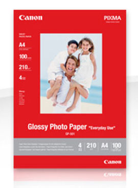 GP-501A4: Canon Genuine A4 Glossy Photo Paper -210gsm
