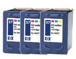 HP OfficeJet 4200 6657TPBL HP 57 Small Triple Pack Colour Ink Cartridges Blister White Foil from Photo Pack